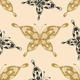 Beautiful seamless pattern with butterflies Royalty Free Stock Photo