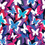 Beautiful seamless pattern with colorful butterflies Stock Photos