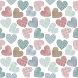 Beautiful seamless pattern with colorful hearts Stock Photo