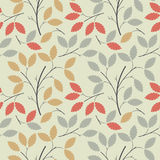 Beautiful seamless pattern with colorful leaves Stock Images