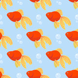 Beautiful seamless pattern with colorful sea fishes marine underwater aquarium animals fishing life ocean water vector Royalty Free Stock Photos
