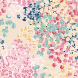 Beautiful seamless pattern with colorful tiny flowers on light coloured background. Spring and Summer floral background. Bright rainbow pattern vector illustration