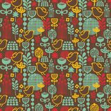 Beautiful seamless pattern with cute birds. Royalty Free Stock Photography