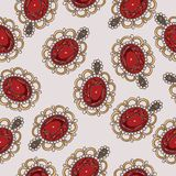 Beautiful seamless pattern with fashion jewelry Royalty Free Stock Photo