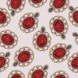 Beautiful seamless pattern with fashion jewelry royalty free stock photo
