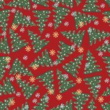 Beautiful seamless pattern with fir tree Royalty Free Stock Images