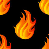 Beautiful seamless pattern with flames of fire Stock Image