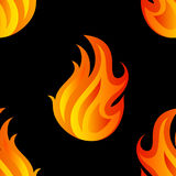 Beautiful seamless pattern with flames of fire Royalty Free Stock Photo