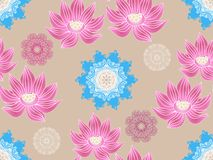 Lotus pattern4. Beautiful seamless pattern with flower lotus. Japanese ? indian pattern. Perfect for site backgrounds, wrapping paper and fabric design. Vector vector illustration