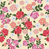 Beautiful seamless pattern with flowers background. Elegance  illustration Royalty Free Stock Photography