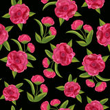 Beautiful seamless pattern with flowers. Royalty Free Stock Photo