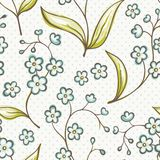 Beautiful seamless pattern with Forget-me not Stock Photography