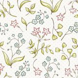 Beautiful seamless pattern with Forget-me not and Royalty Free Stock Image