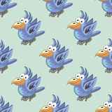 Beautiful seamless pattern with funny parrots.- vector illustrat Stock Photography