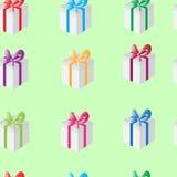 Beautiful seamless pattern of gifts Stock Photography