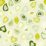 Beautiful seamless pattern with green leaves Royalty Free Stock Photos
