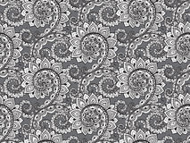 Beautiful seamless pattern with hand drawn abstract scroll flowe Stock Image