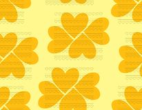 Beautiful seamless pattern of hearts in orange and yellow colors Stock Photo