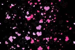 Beautiful seamless pattern with hearts, Royalty Free Stock Photo