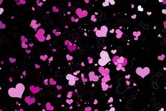 Beautiful seamless pattern with hearts, Stock Photography