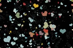 Beautiful seamless pattern with hearts, Royalty Free Stock Photography