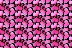 Beautiful seamless pattern with hearts, Stock Image