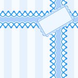 Beautiful seamless pattern with lace and card in blue color Royalty Free Stock Photo
