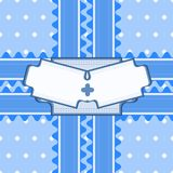 Beautiful seamless pattern with lace and double card in blue col Stock Image