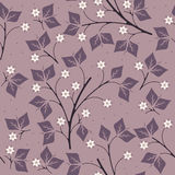 Beautiful seamless pattern with leaves and flowers Stock Photography