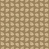 Beautiful seamless pattern with leaves for design of cards, textile, wrapping paper, etc. Vector illustration. Royalty Free Stock Image
