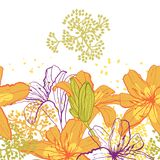 Beautiful seamless pattern with lilies Stock Image