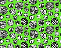 Green pattern with xmas toys stock illustration