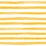 Beautiful seamless pattern with Orange yellow watercolor stripes. hand painted brush strokes, striped background. Vector illustrat. Ion Stock Image