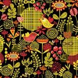 Beautiful seamless pattern of pretty flowers. Royalty Free Stock Photo