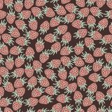 Seamless pattern with raspberries Stock Image