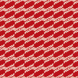 Beautiful seamless pattern on a red background retro style Royalty Free Stock Photos