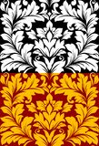 Beautiful seamless pattern in retro damask floral Royalty Free Stock Photos