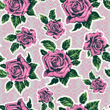 Beautiful seamless pattern in roses. Illustration Stock Photos