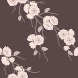 Beautiful  seamless pattern with sakura Royalty Free Stock Images