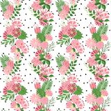 Beautiful seamless pattern in small abstract flower. Small colorful flowers. Cute simple spring flowers Stock Images