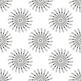 Beautiful seamless pattern with snowflake circle. Vector illustration. Winter background for Christmas or New Year vector illustration