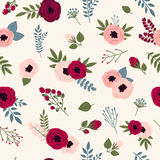Beautiful seamless pattern with spring flowers Royalty Free Stock Image