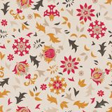 Beautiful seamless pattern with stylized flowers. Stock Image