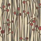 Beautiful seamless pattern with twigs in folkloric style Royalty Free Stock Image
