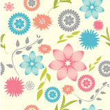 Abstract seamless floral pattern. Beautiful seamless pattern with various flowers Stock Photos