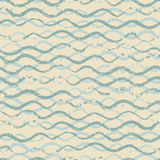 Beautiful seamless pattern with wavy brush strokes. vintage monochrome background. Ornamental print for t-shirts. Ornament for wra Stock Image