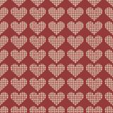 beautiful seamless pattern with a wicker heart on a pink stock image