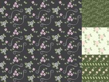 Beautiful seamless patterns with hearts and roses royalty free illustration