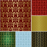 Beautiful seamless patterns - vector set Stock Photography