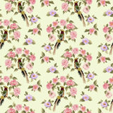 Beautiful Seamless peony pattern Stock Image